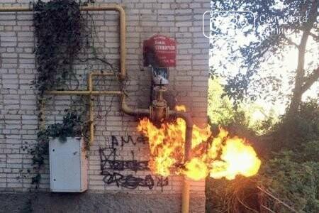В винницкой многоэтажке загорелся газопровод (фото), фото-1