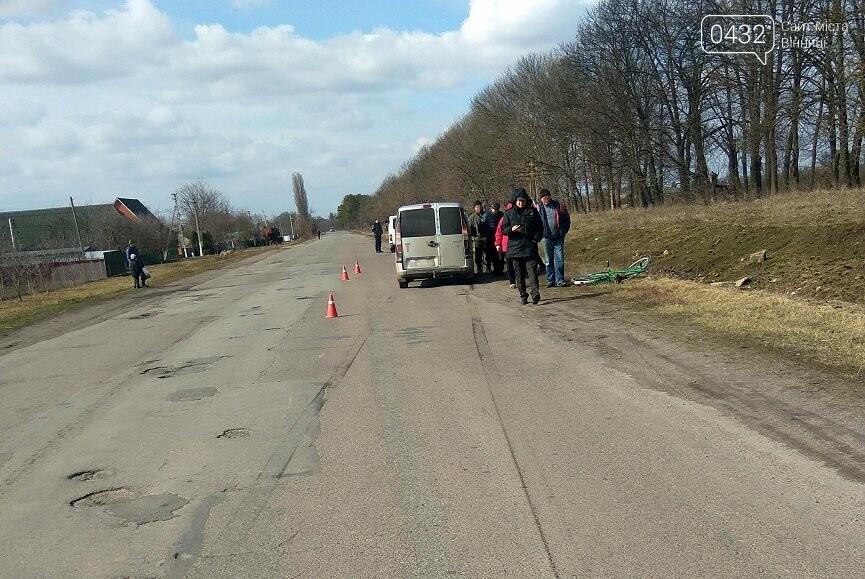 На Винничине пьяный велосипедист попал под колеса Fiat Doblo (фото), фото-1