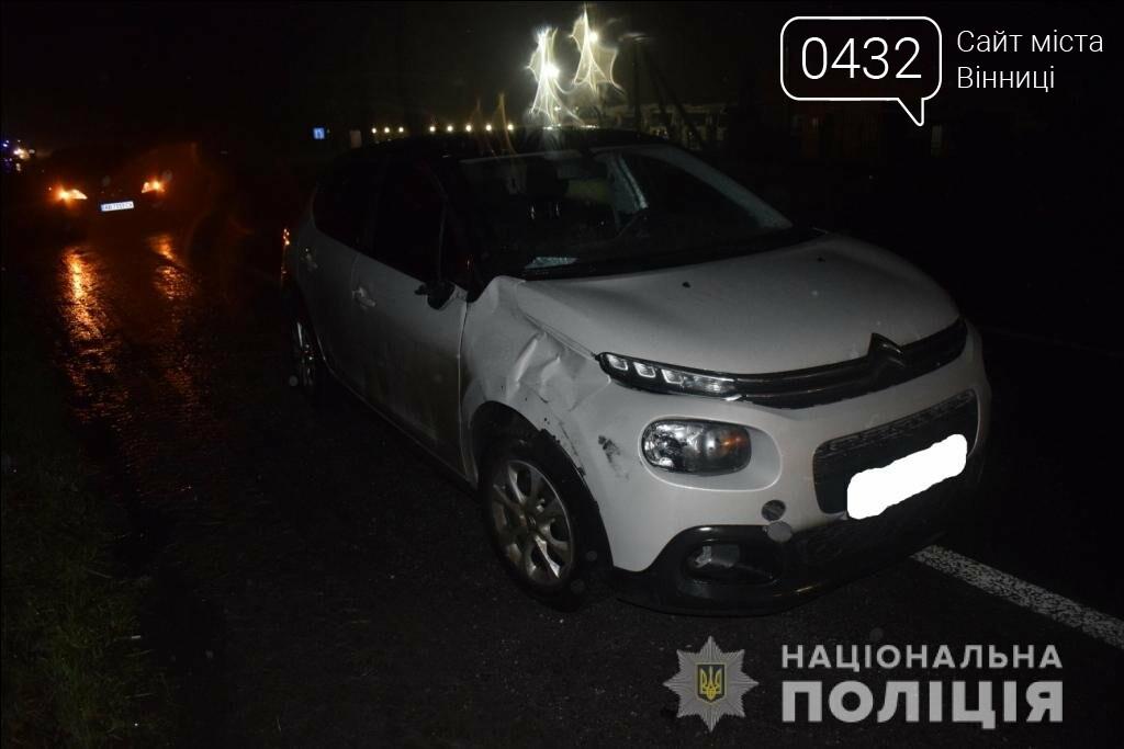 На Винниччине 66-летний пешеход погиб под колесами Citroen , фото-1